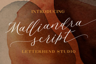 Print on Demand: Malliandra Script Script & Handwritten Font By letterhend