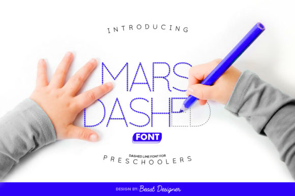 Print on Demand: Mars Dashed Display Font By Beast Designer
