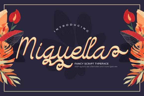 Print on Demand: Miguella Script & Handwritten Font By Vunira