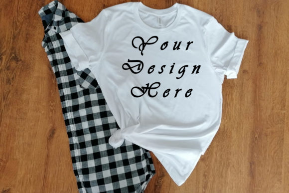 Mockups Bella Canvas White Tshirt Graphic Product Mockups By MockupsByGaby