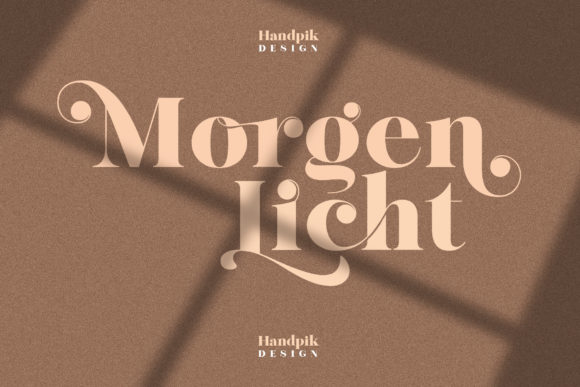 Print on Demand: Morgen Licht Serif Font By handpik