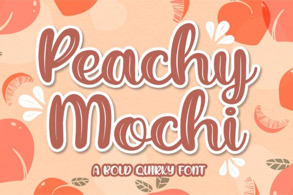 Print on Demand: Peachy Mochi Display Font By awansenja.type