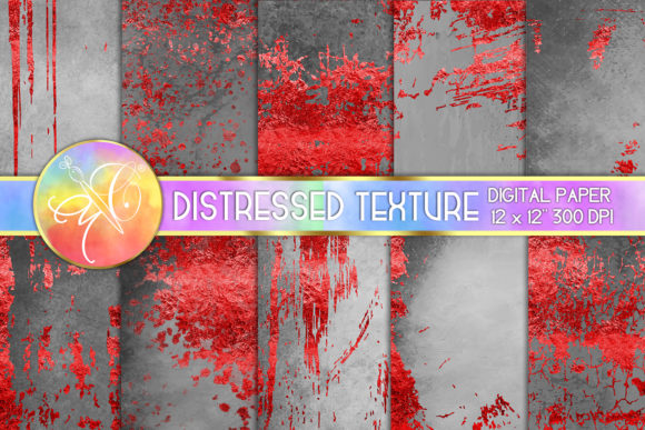 Red Foil Distressed Digital Paper Graphic Backgrounds By paperart.bymc