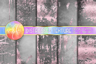 Rose Gold Foil Distressed Digital Paper Graphic Backgrounds By paperart.bymc