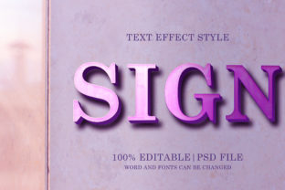 Sign Text Effects Style Graphic Layer Styles By Neyansterdam17