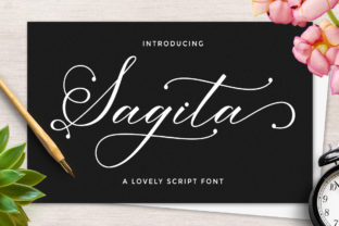 Print on Demand: Sagita Script & Handwritten Font By LetterFreshStudio