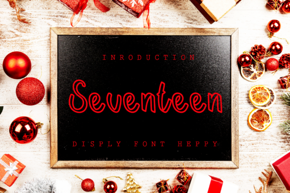 Print on Demand: Seventeen Script & Handwritten Font By giatstudios