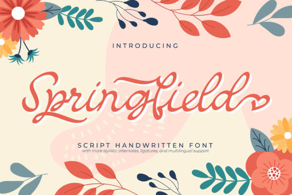 Print on Demand: Springfield Script & Handwritten Font By Vunira