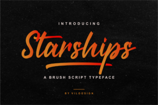 Print on Demand: Starships Script & Handwritten Font By Vilogsign