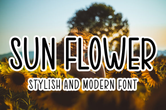 Print on Demand: Sun Flowers Script & Handwritten Font By FL Space