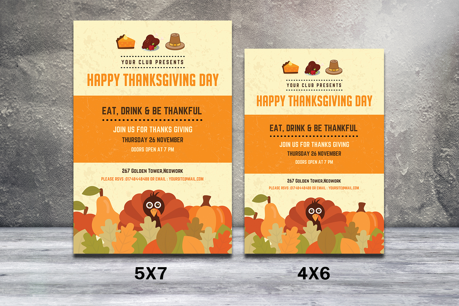 Thanksgiving Day Invitaion Flyer Graphic By Sistecbd Creative Fabrica