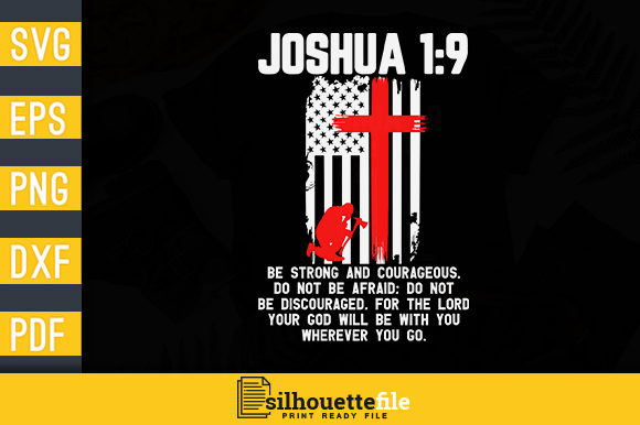 Print on Demand: Thin Red Line Fireman Bible Verse Flag Graphic Print Templates By Silhouettefile