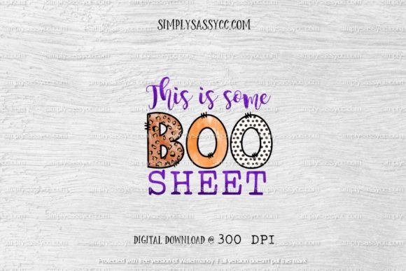 This is Some Boo Sheet, Cheetah Print Graphic Illustrations By Simply Sassy CC