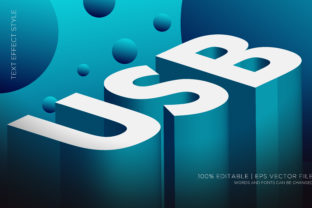 USB ISOMETRIC 3D TEXT EFFECTS Graphic Layer Styles By Neyansterdam17
