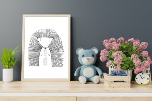 Print on Demand: Wall Art,Cute Porcupine Animal Clip Art Graphic Illustrations By Saydung89