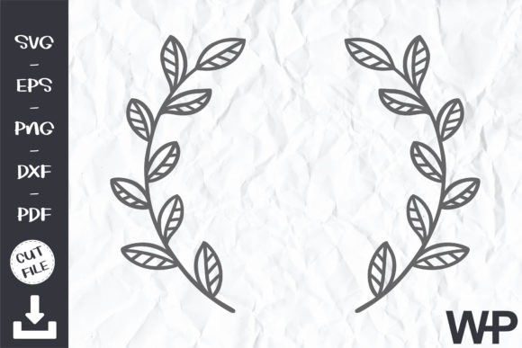 Wreath Cilpart SVG Leaves Clipart Graphic Print Templates By wanchana365