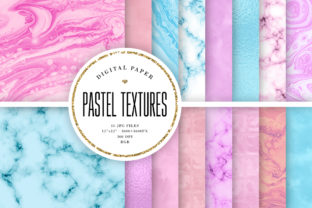 Print on Demand: 16 Basic Pastel Texture Backgrounds Graphic Backgrounds By Sabina Leja