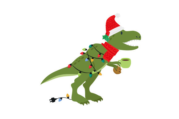 Christmas T-rex Christmas Craft Cut File By Creative Fabrica Crafts