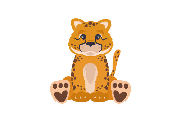 Cheetah Cub Cut File