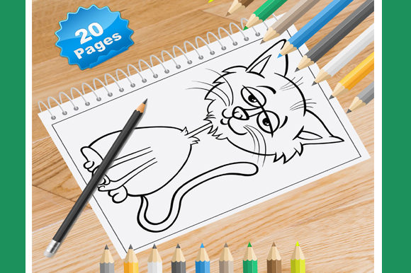 Print on Demand: 20 Cat Coloring Pages for Kids Graphic Coloring Pages & Books Kids By Coloring World