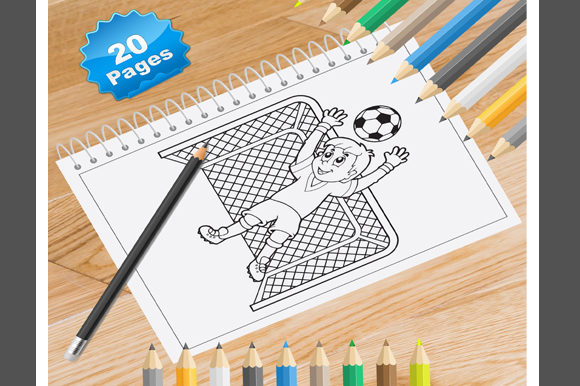 Print on Demand: 20 Football Coloring Pages for Kids Graphic Coloring Pages & Books Kids By Coloring World