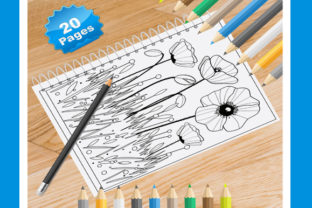 Print on Demand: 20 Garden Flower Coloring Pages Graphic Coloring Pages & Books Adults By Coloring World