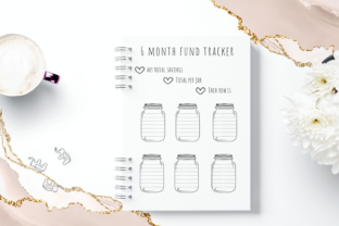 6 Month Emergency Fund Saving Challenge Graphic Objects By Aneta Design