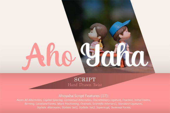 Print on Demand: Aho Yaha Script & Handwritten Font By emanesdsign