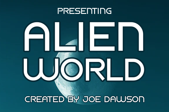 Print on Demand: Alien World Display Font By Joe Dawson