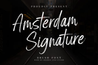 Print on Demand: Amsterdam Signature Script & Handwritten Font By Graphix Line Studio