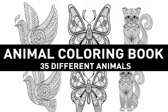 Print on Demand: Animal Coloring Book for Adults ( Kdp) Graphic Coloring Pages & Books Adults By Gurus Kdp Templates