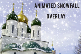 Print on Demand: Animated Snowfall Overlay Graphic Textures By NatashaPrando