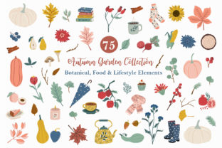 Autumn Garden Clipart Icons Graphic Illustrations By EssentiallyNomadic