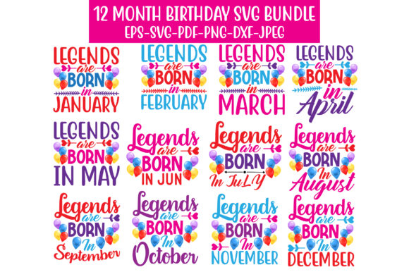 Print on Demand: BIRTHDAY SVG BUNDLE Graphic Crafts By Graphics Home.net