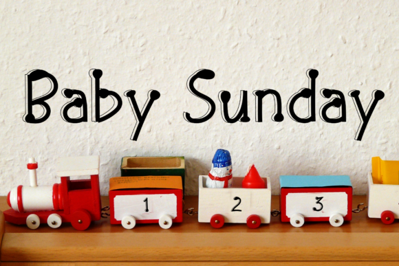 Print on Demand: Baby Sunday Display Font By dazzlinggleam