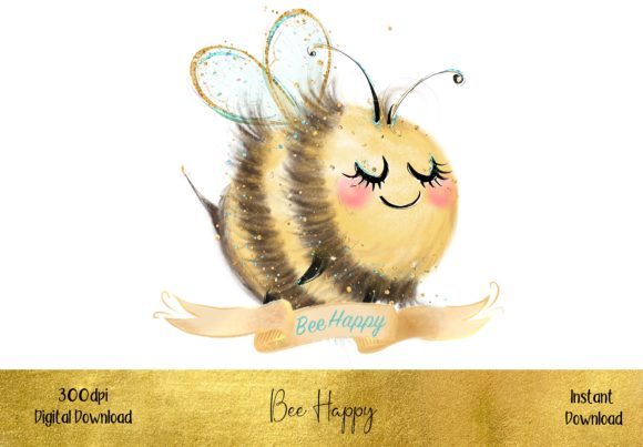 Bee Happy Graphic Illustrations By STBB
