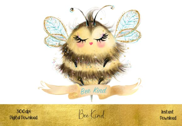 Bee Kind Graphic Illustrations By STBB