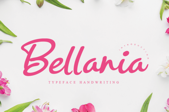 Print on Demand: Bellania Script & Handwritten Font By flowerletter