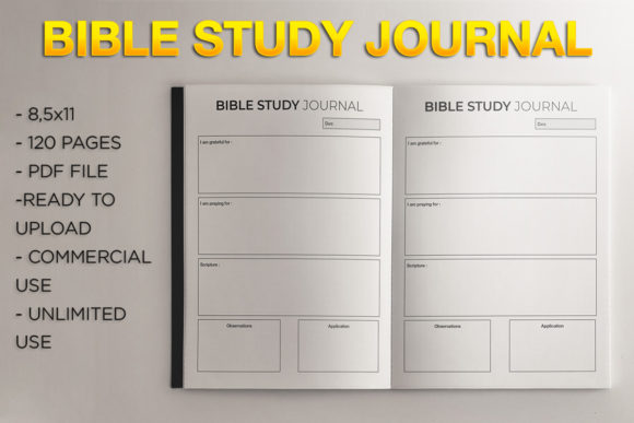 Print on Demand: Bible Study Journal | KDP Template Graphic KDP Interiors By KDP Product