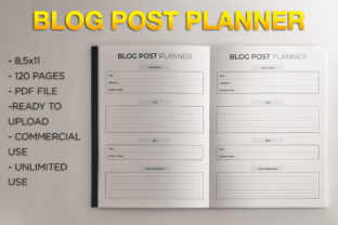 Print on Demand: Blog Post Planner | KDP Template Graphic KDP Interiors By KDP Product