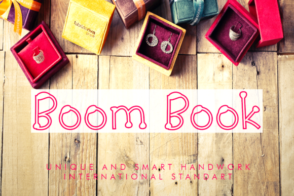 Print on Demand: Boom Book Display Font By giatstudios
