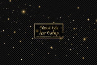 Print on Demand: Celestial Gold Star Overlays Graphic Illustrations By Digital Curio
