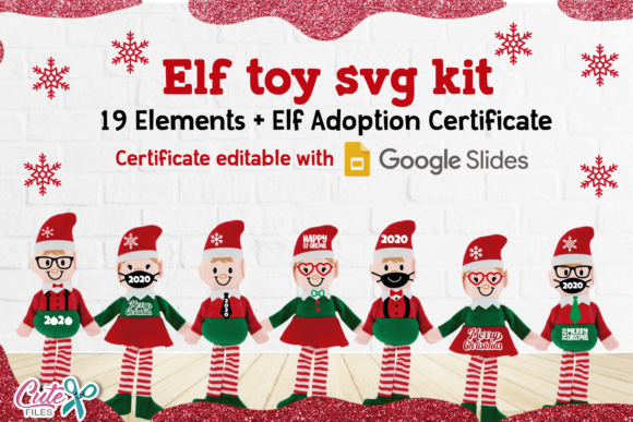 Christmas Elf Toy Kit SVG Cut Files Graphic Crafts By Cute files
