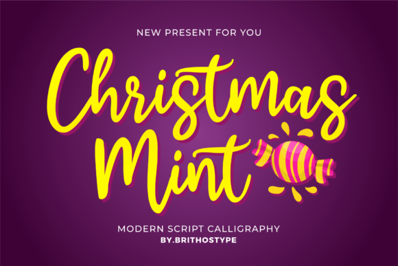 Print on Demand: Christmas Mint Script & Handwritten Font By brithostype
