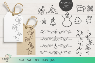 Print on Demand: Christmas Borders and Illustrations Set. Graphic Illustrations By artsbynaty