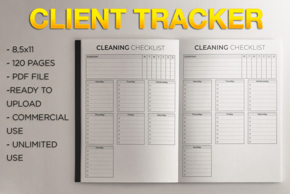Print on Demand: Client Tracker | KDP Template Graphic KDP Interiors By KDP Product