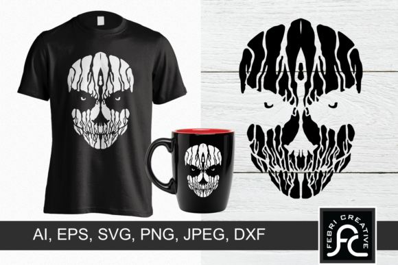 Print on Demand: Creepy T-Shirt Design Graphic Crafts By Febri Creative