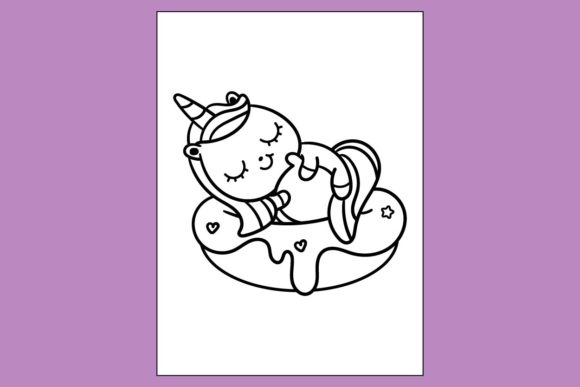 Cute Unicorn Coloring Page Kdp Book Graphic By Mah Moud Creative Fabrica