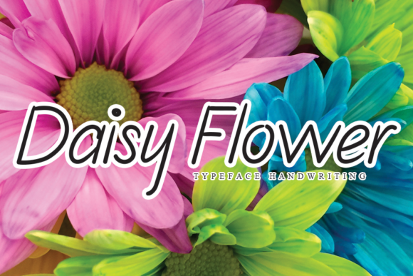 Print on Demand: Daisy Flower Script & Handwritten Font By flowerletter