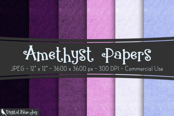 Digital Textured Paper Amethyst Graphic Backgrounds By digitalbluejay